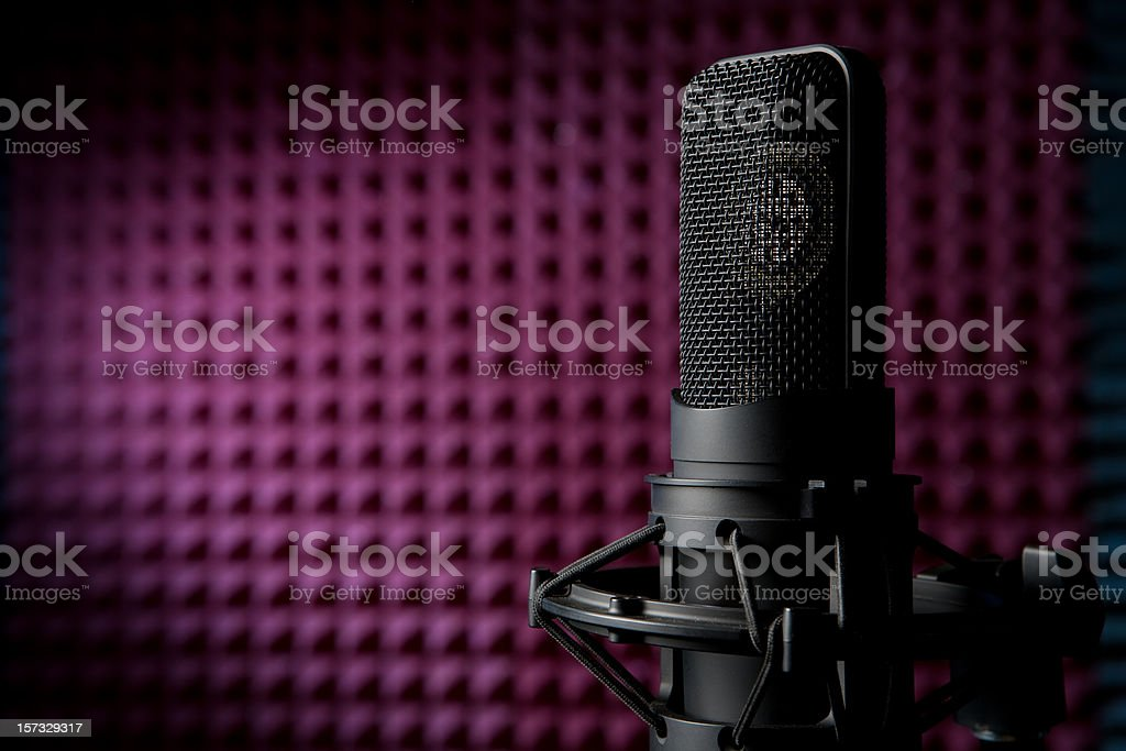 Microphone: You're Attention Please! stock photo