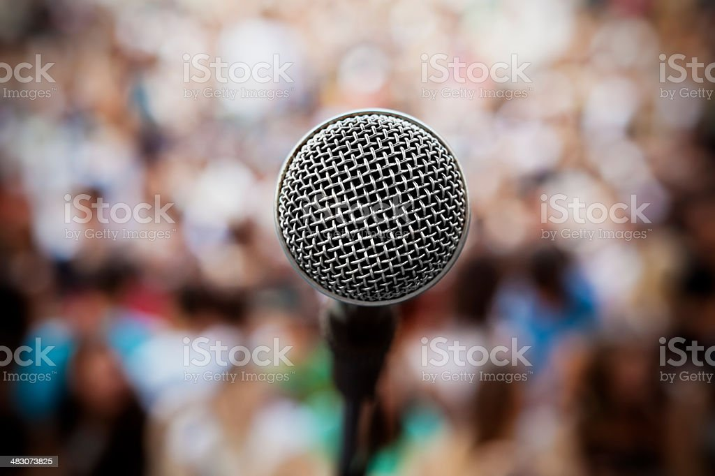 microphone-concert royalty-free stock photo