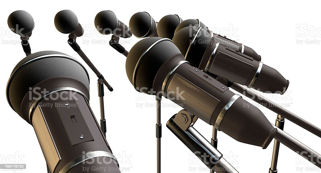 Microphones and Stands Array royalty-free stock photo