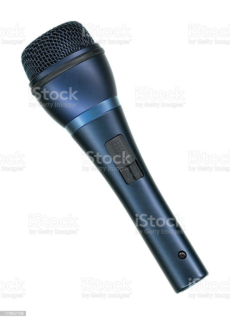 Microphone\\'s got the blues stock photo