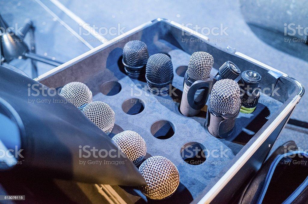 Microphones, Live Performance Setup stock photo