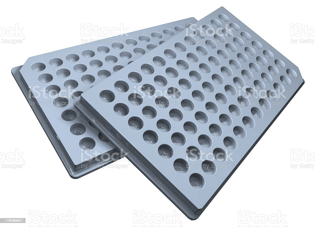 Microplates stock photo