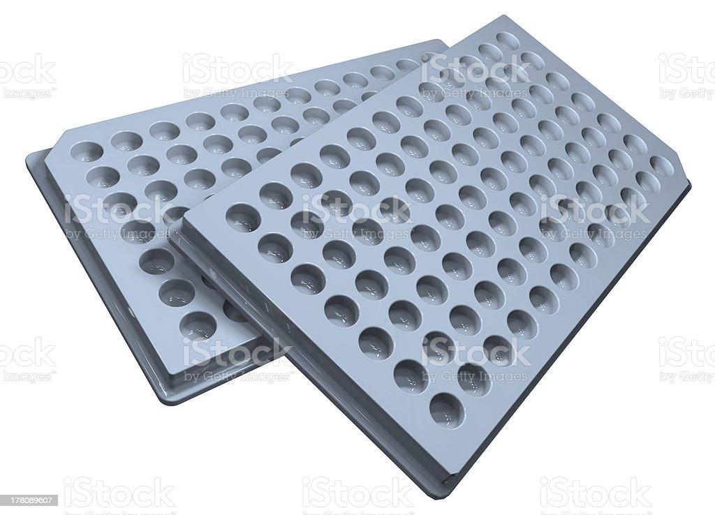 Microplates stock photo