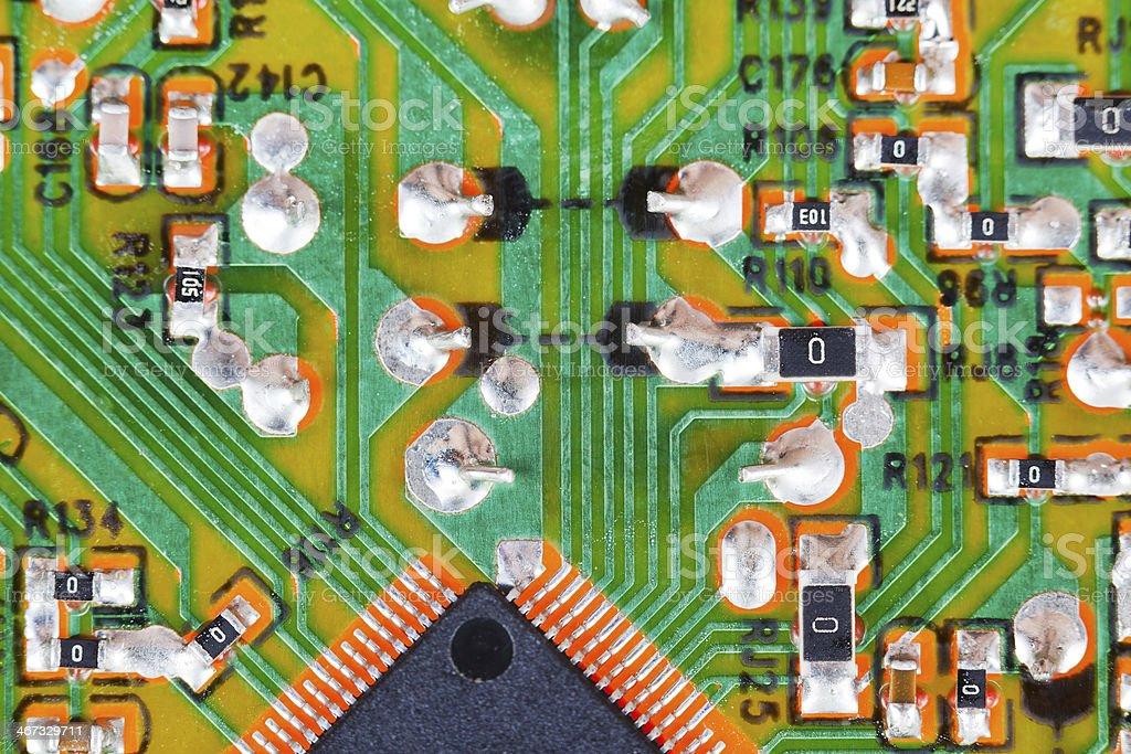 microprocessor circuit board macro shot royalty-free stock photo