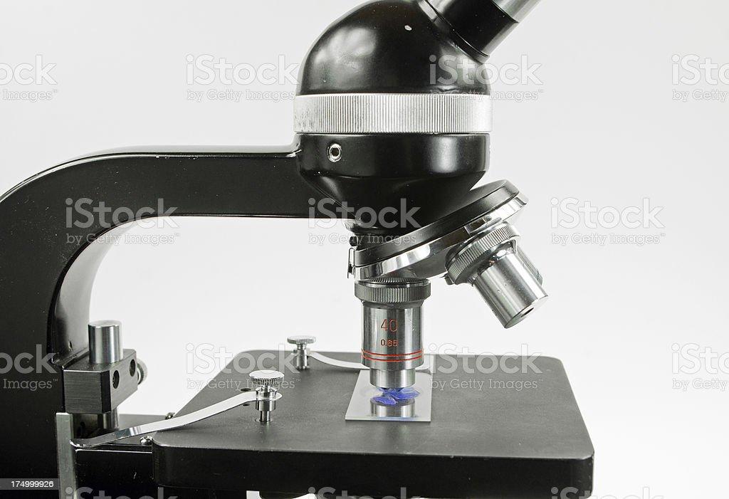 Microscope and Slide stock photo