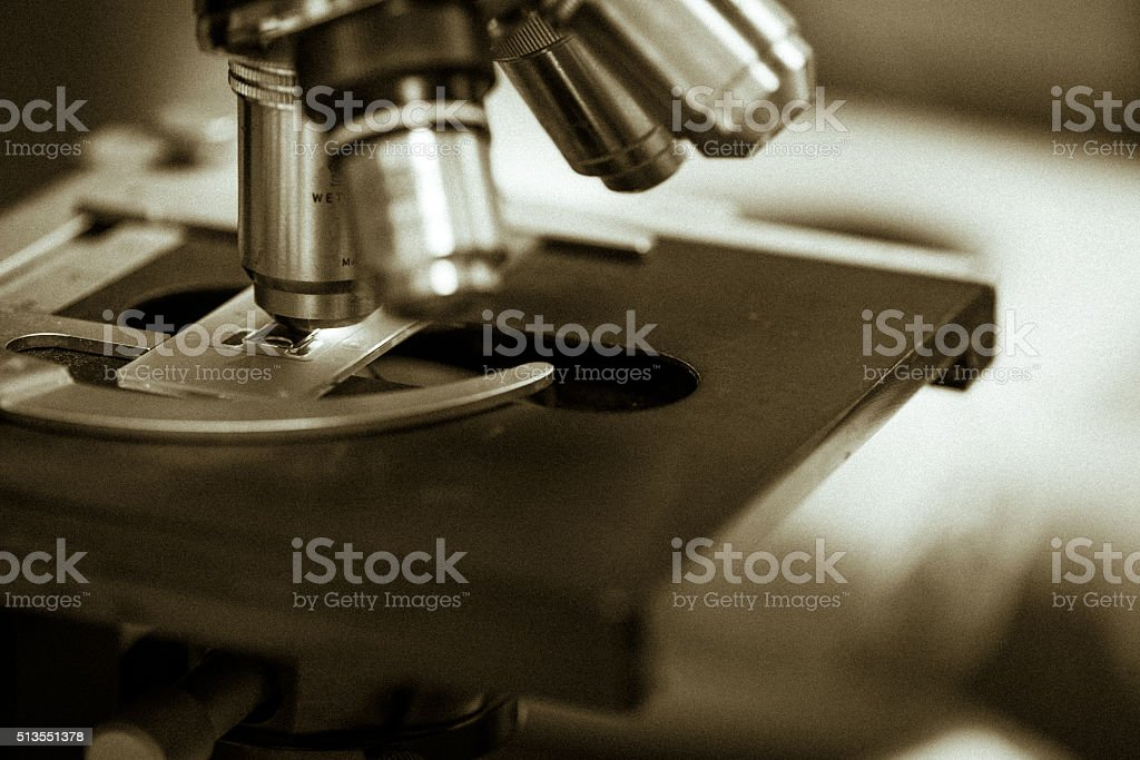 Microscope Background stock photo