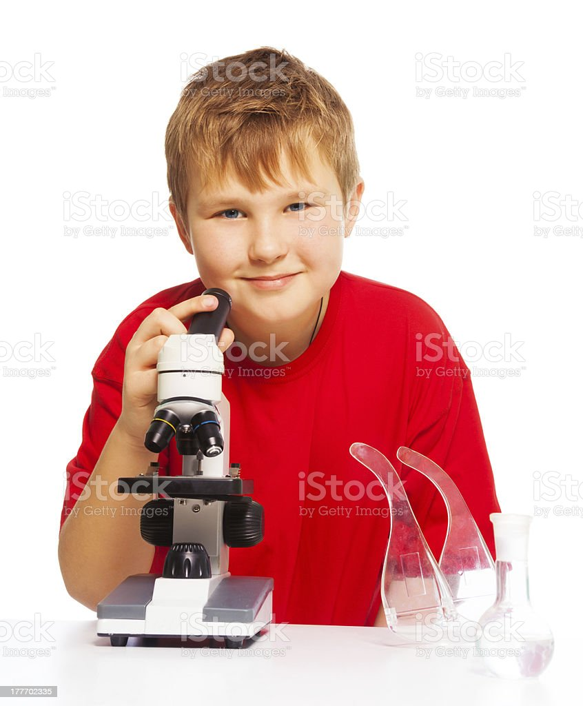 Microscope is fun to play and study royalty-free stock photo