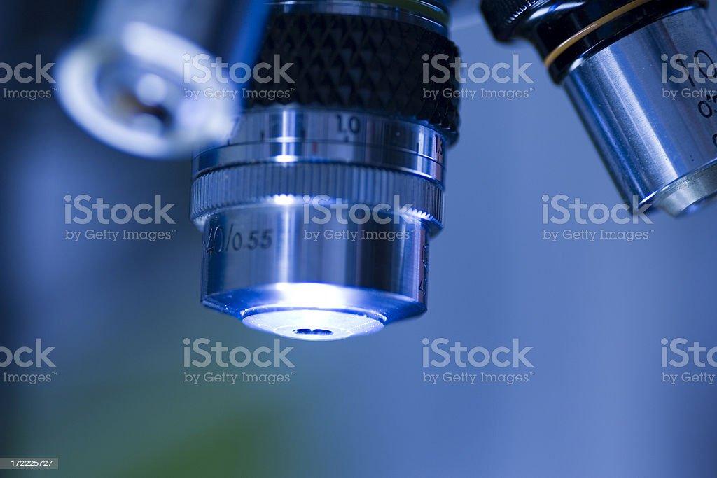 Microscope lens royalty-free stock photo