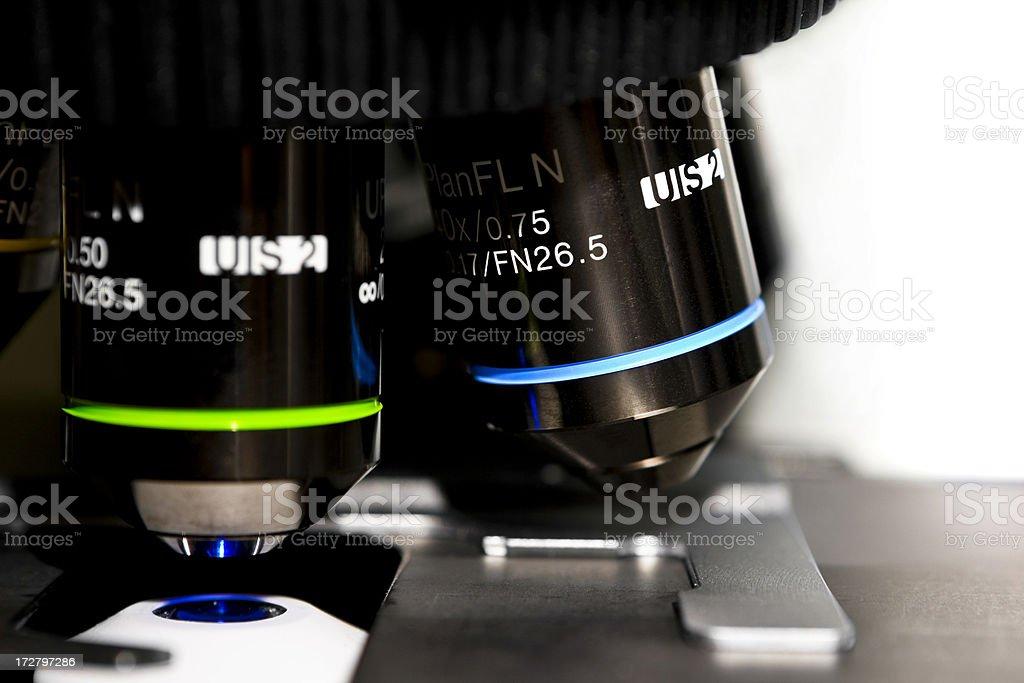 Microscope Objectives royalty-free stock photo