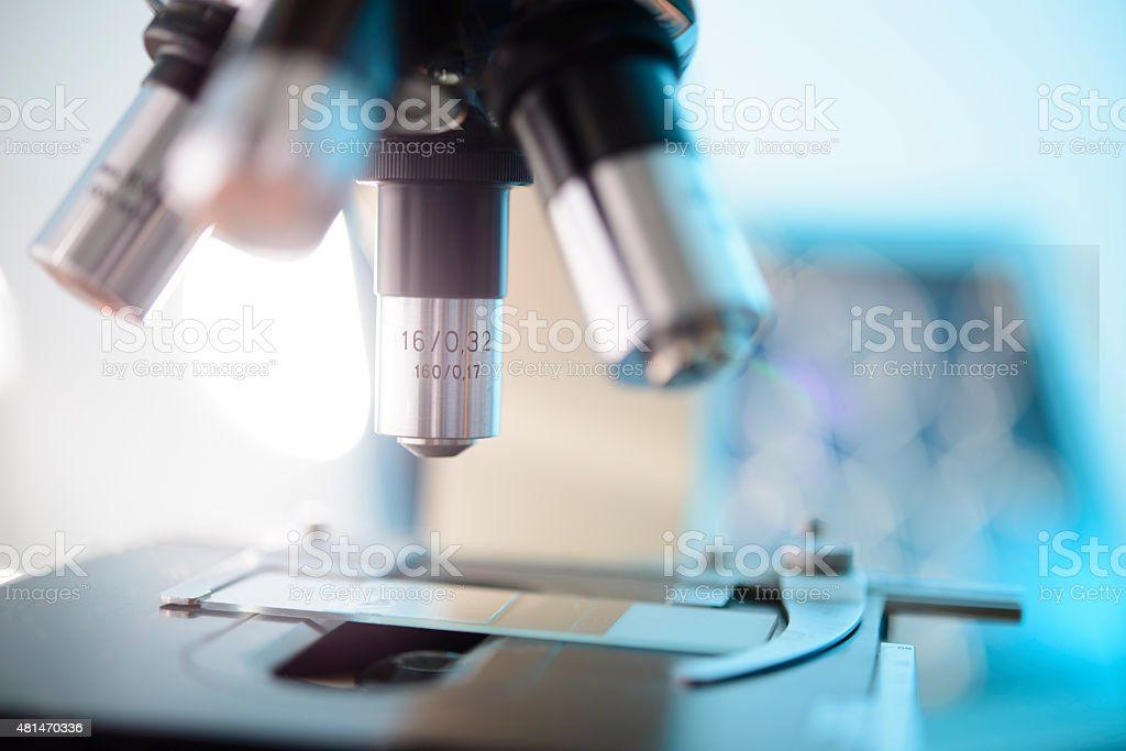 Microscope stock photo