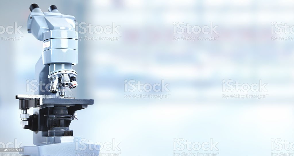 Microscope. stock photo