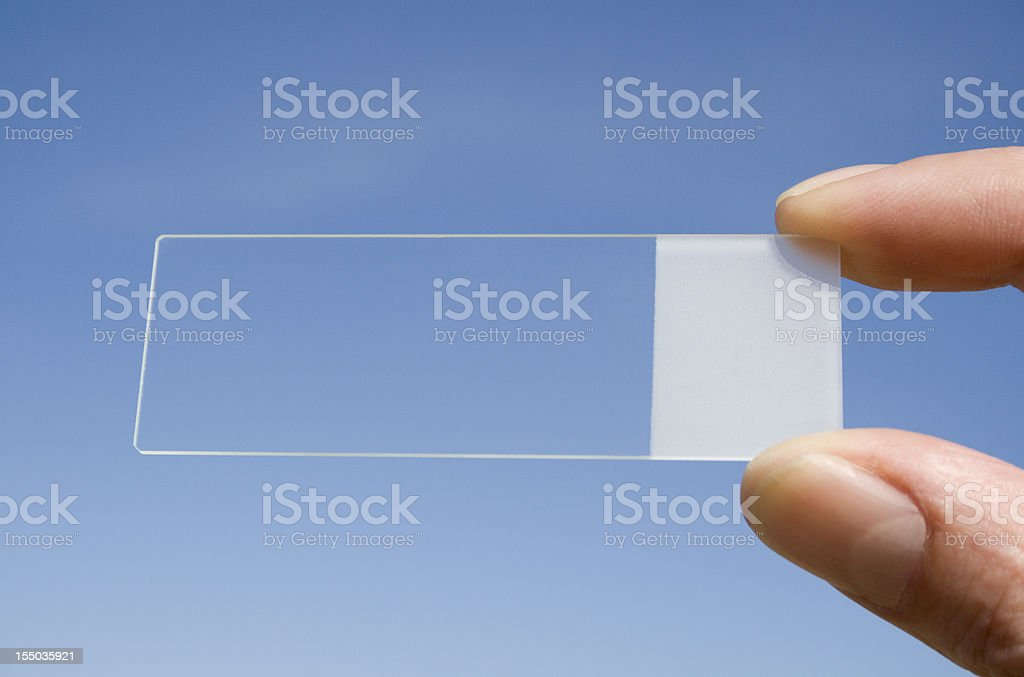 Microscope slide stock photo