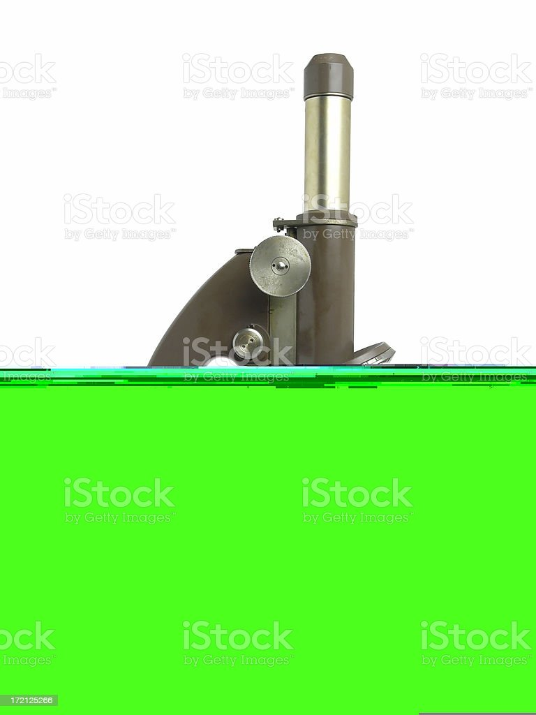 Microscope with clipping path royalty-free stock photo