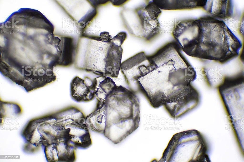 Microscopic image of salt stock photo