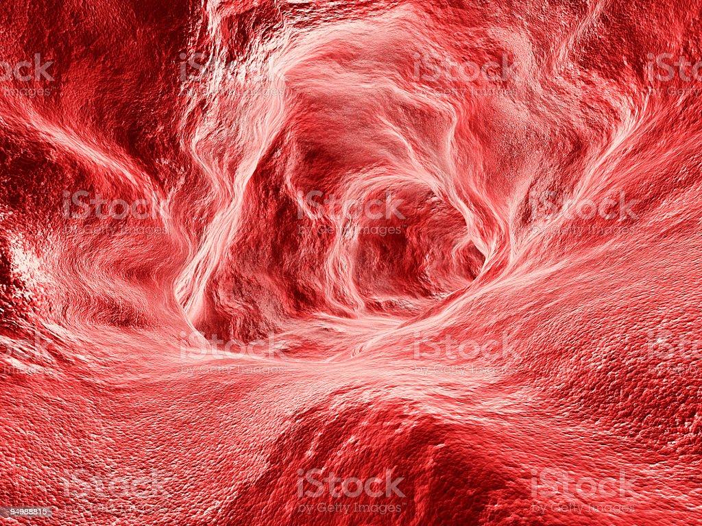 Microscopic interior view of artery royalty-free stock photo