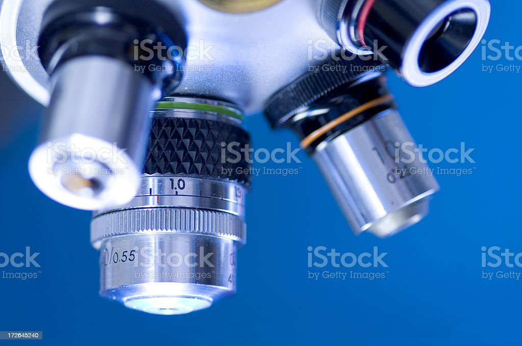 Microscopic lens royalty-free stock photo