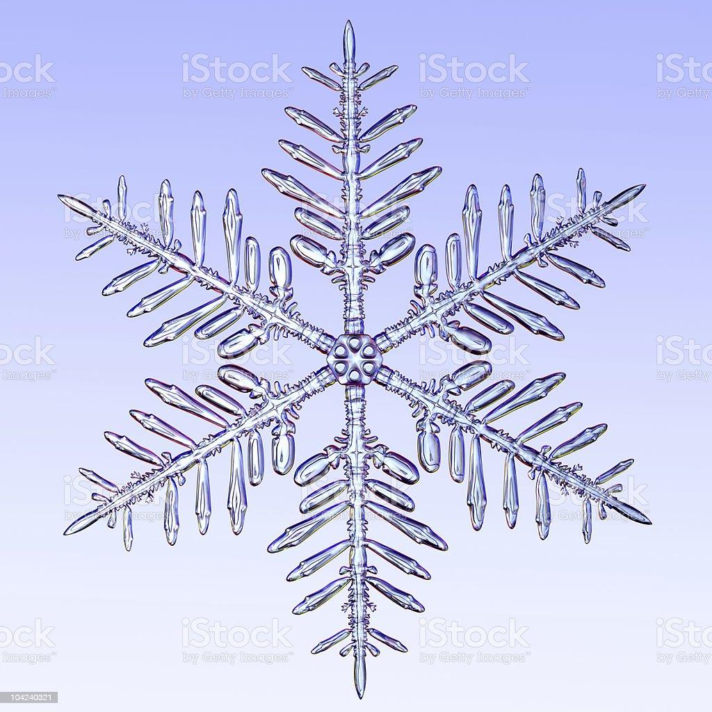 Microscopic snowflake stock photo