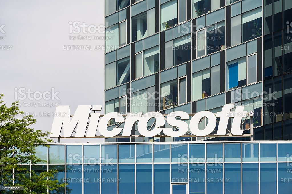 Microsoft Building In Bucharest stock photo