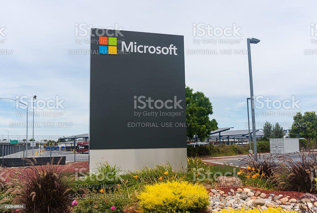 Microsoft corporate office stock photo