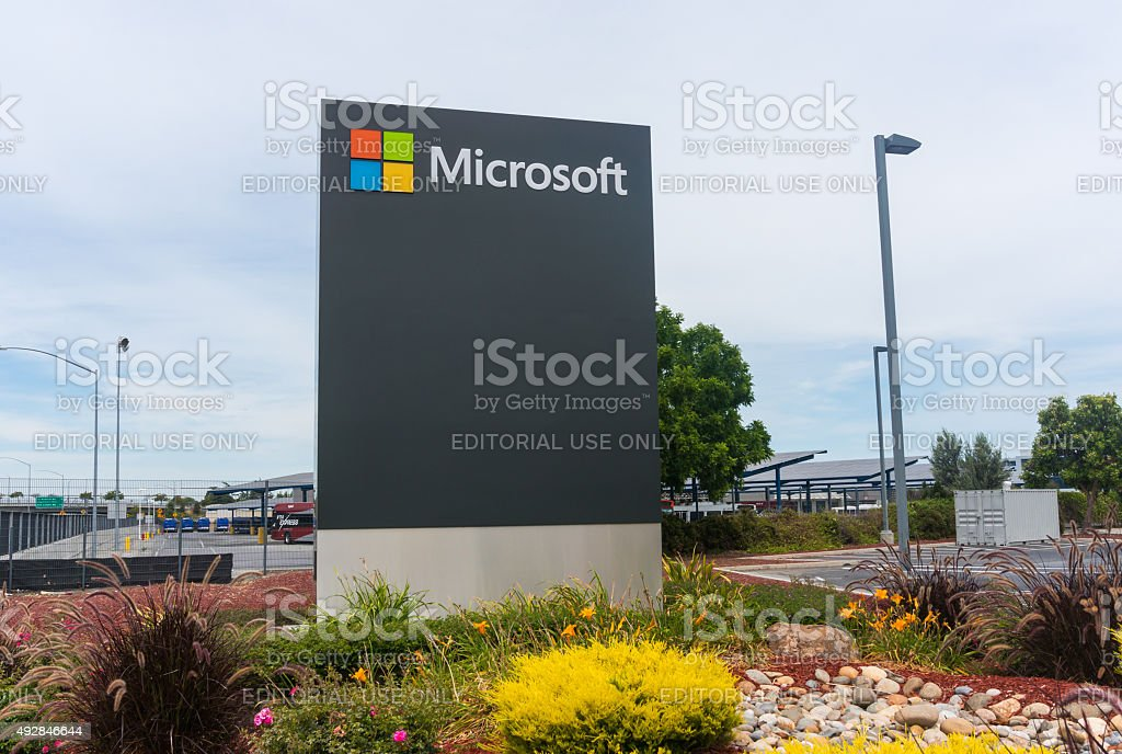 Microsoft corporate office stock photo