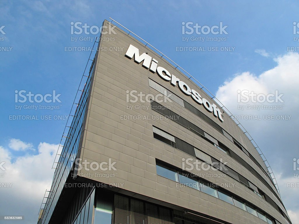 Microsoft Corporation headquarters stock photo