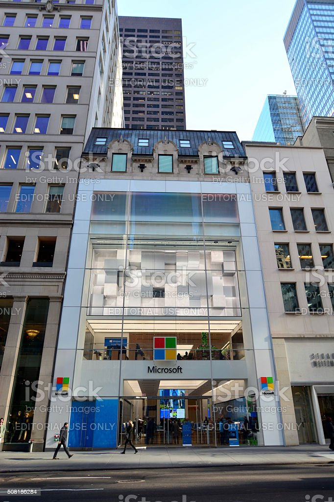 Microsoft flagship store in new york city stock photo