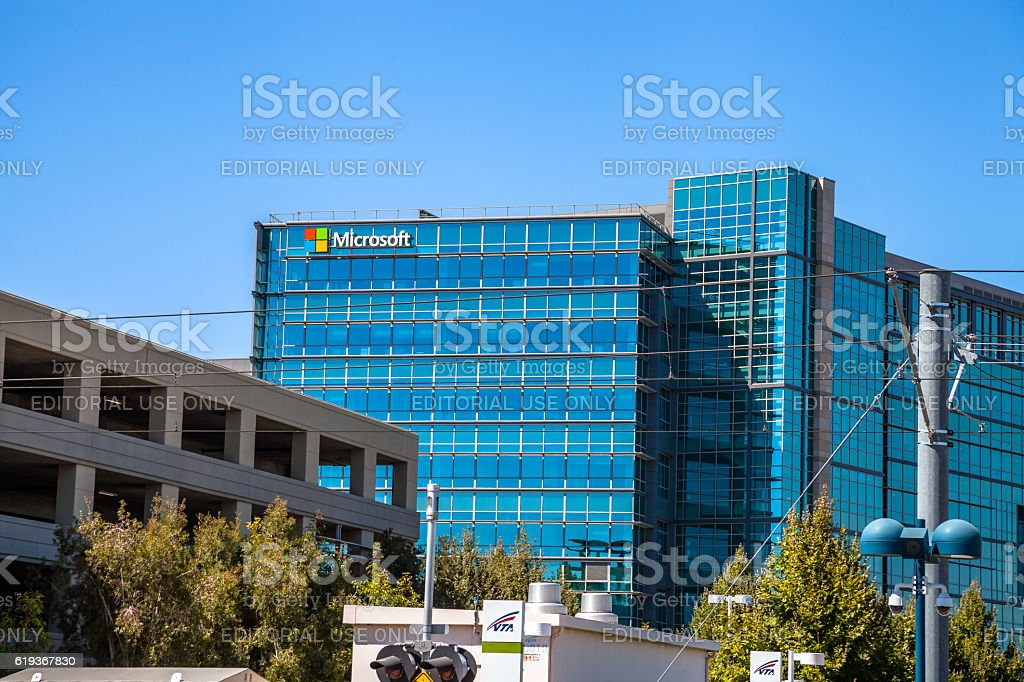 Microsoft hardware division stock photo