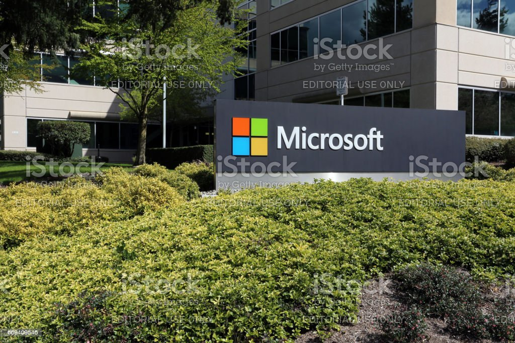 Microsoft Headquarters stock photo