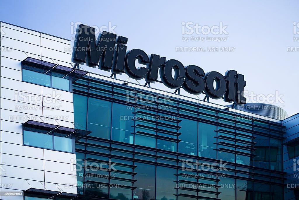 Microsoft Logo royalty-free stock photo