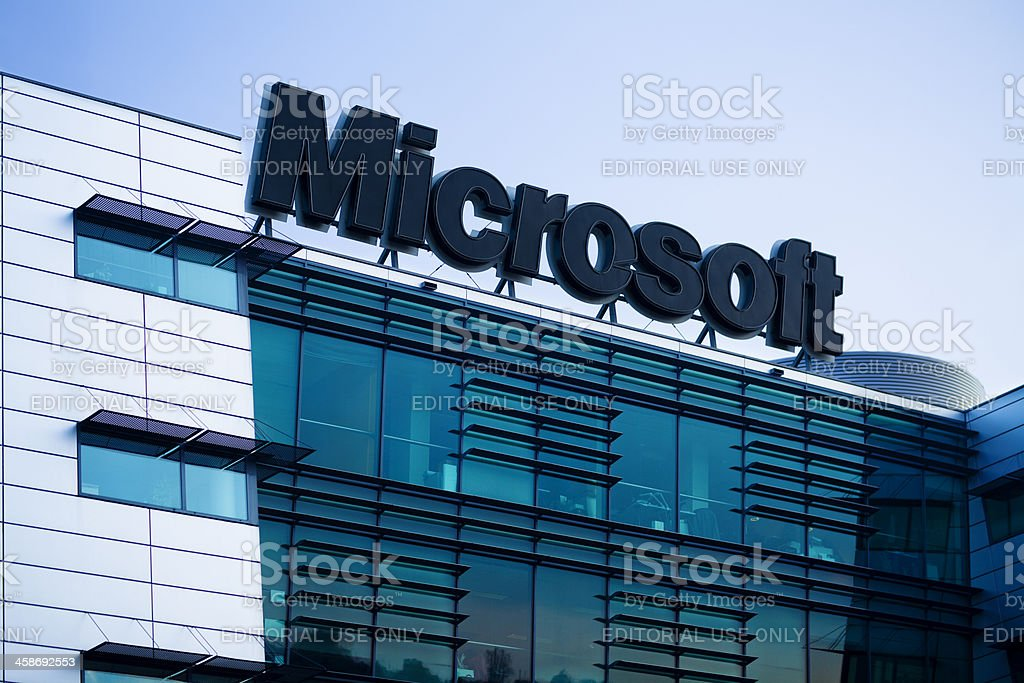Microsoft Logo stock photo