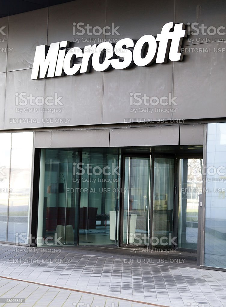 Microsoft Logo royalty-free stock photo