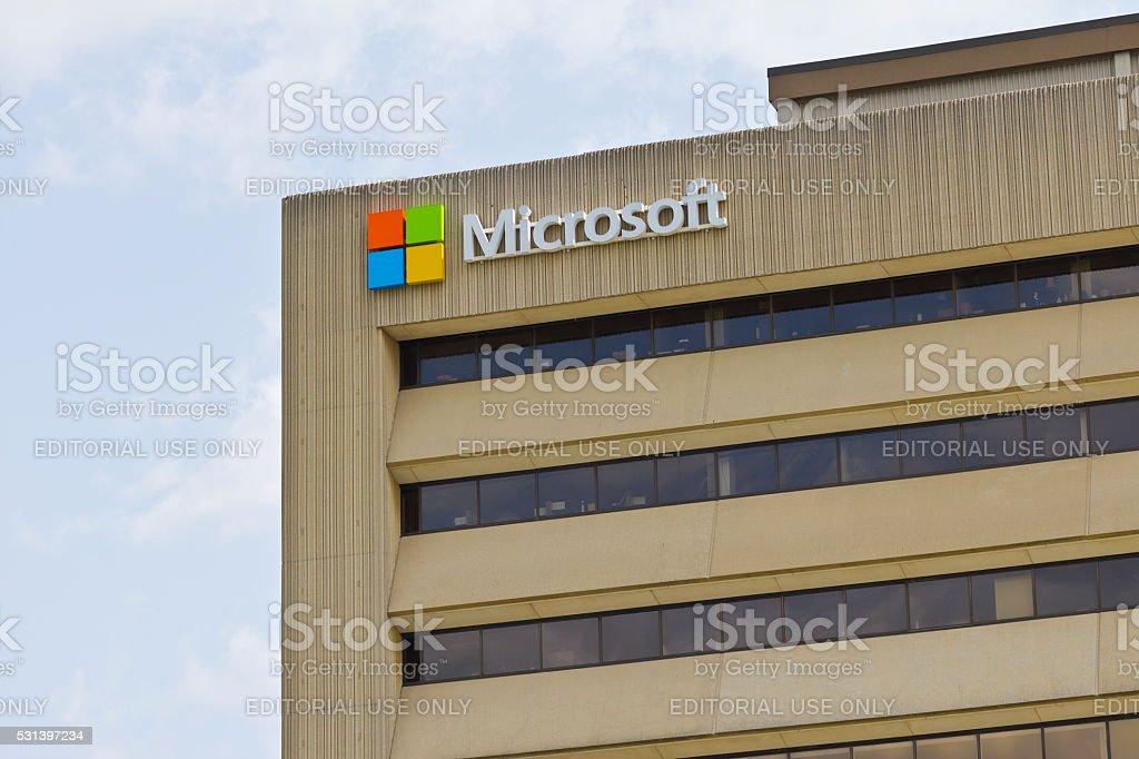 Indianapolis-mai 2016 : Siège social de Microsoft Midwest quartier J'ai photo libre de droits
