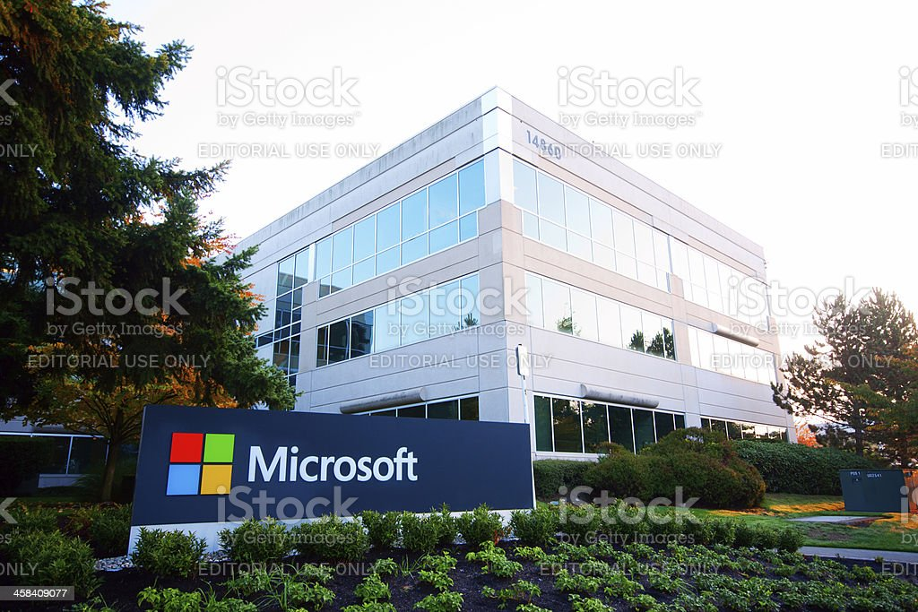 Microsoft Sign stock photo