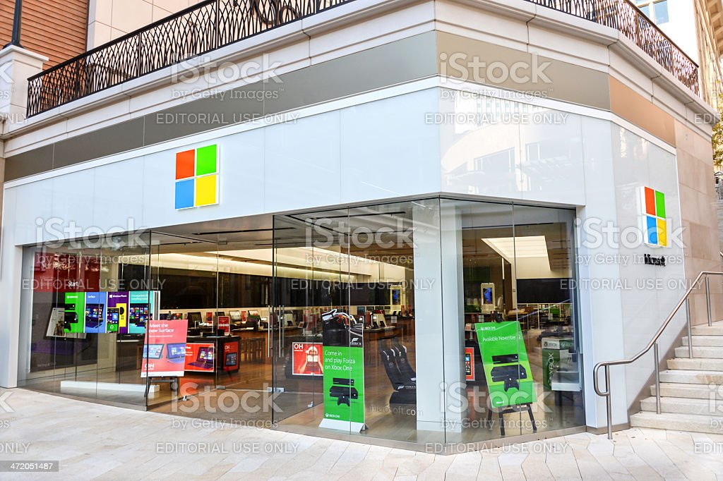 Microsoft Store stock photo