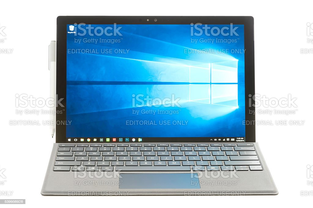 Microsoft Surface Pro 4 stock photo