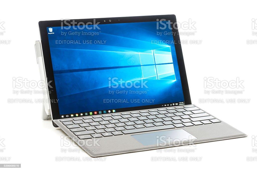 Microsoft Surface Pro 4 stock photo