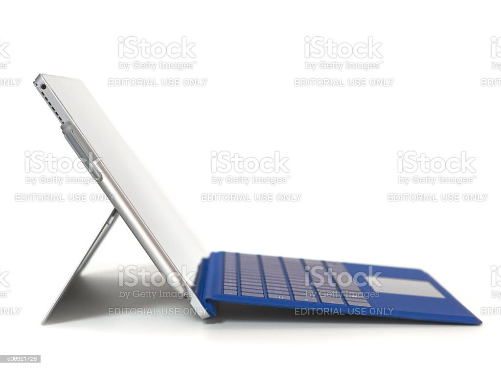 Microsoft Surface Pro 4 with Type Cover. stock photo