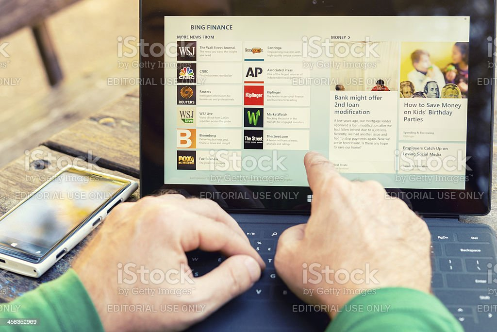 Microsoft Surface Pro stock photo