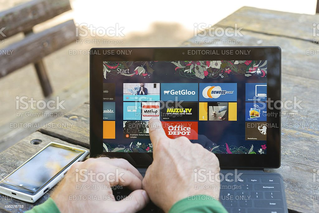 Microsoft Surface tablet stock photo