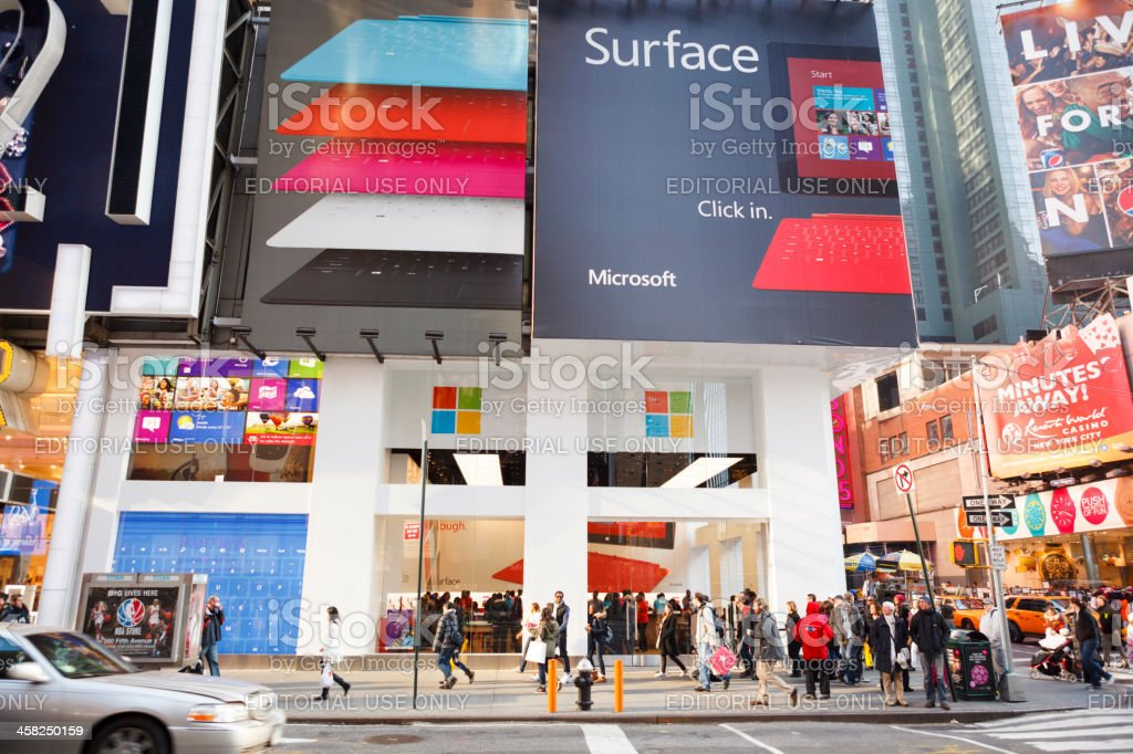 Microsoft Times Square Store New York City stock photo