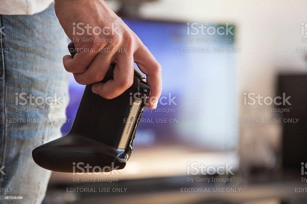 Microsoft Xbox One - Video Game Controller stock photo