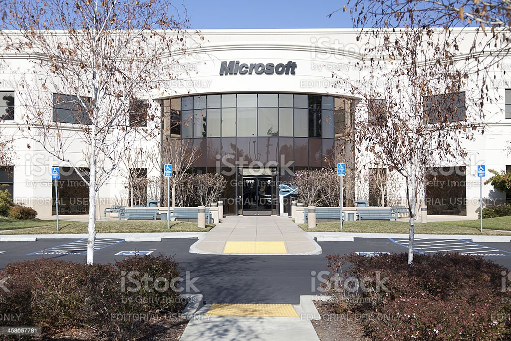 Microsoft-Mountain View stock photo