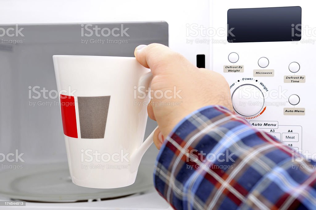 Microwave cooking royalty-free stock photo