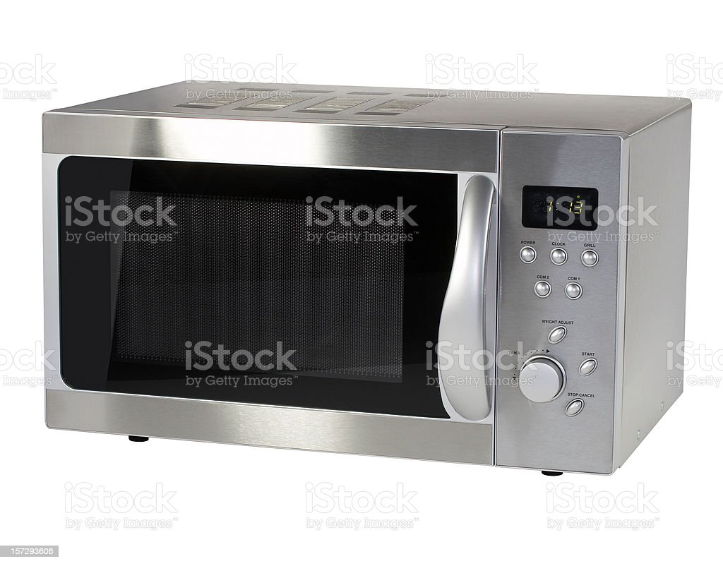 Microwave oven (clipping path), isolated on white background stock photo