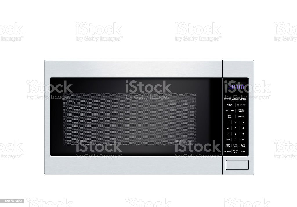 microwave oven isolated royalty-free stock photo
