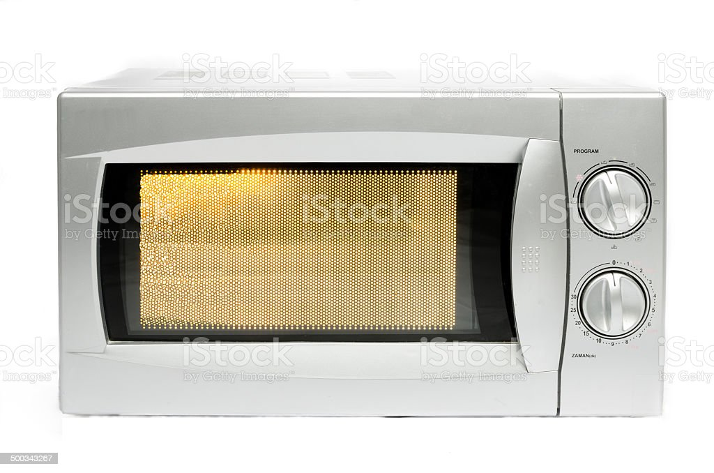 Microwave oven or microwaves stock photo
