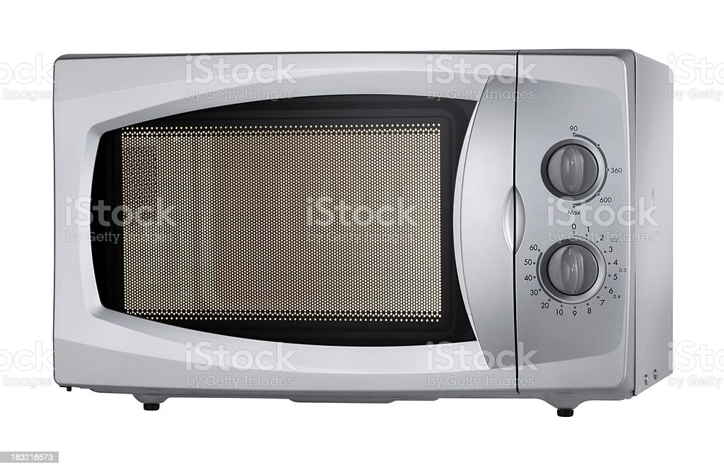 Microwave oven (isolated with clipping path over white background) stock photo