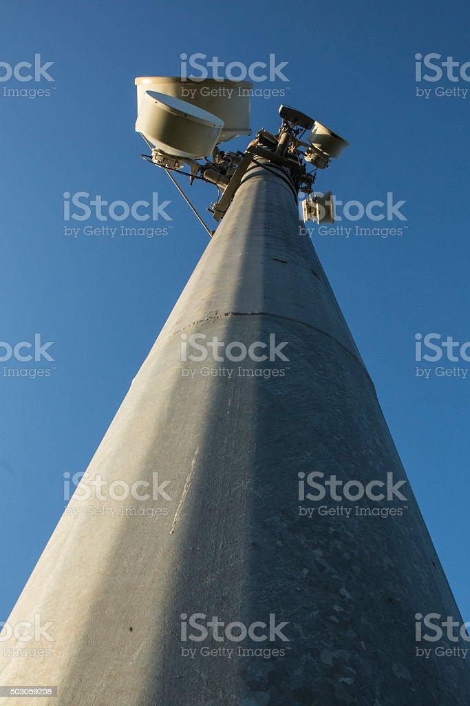 Microwave Radio Tower royalty-free stock photo