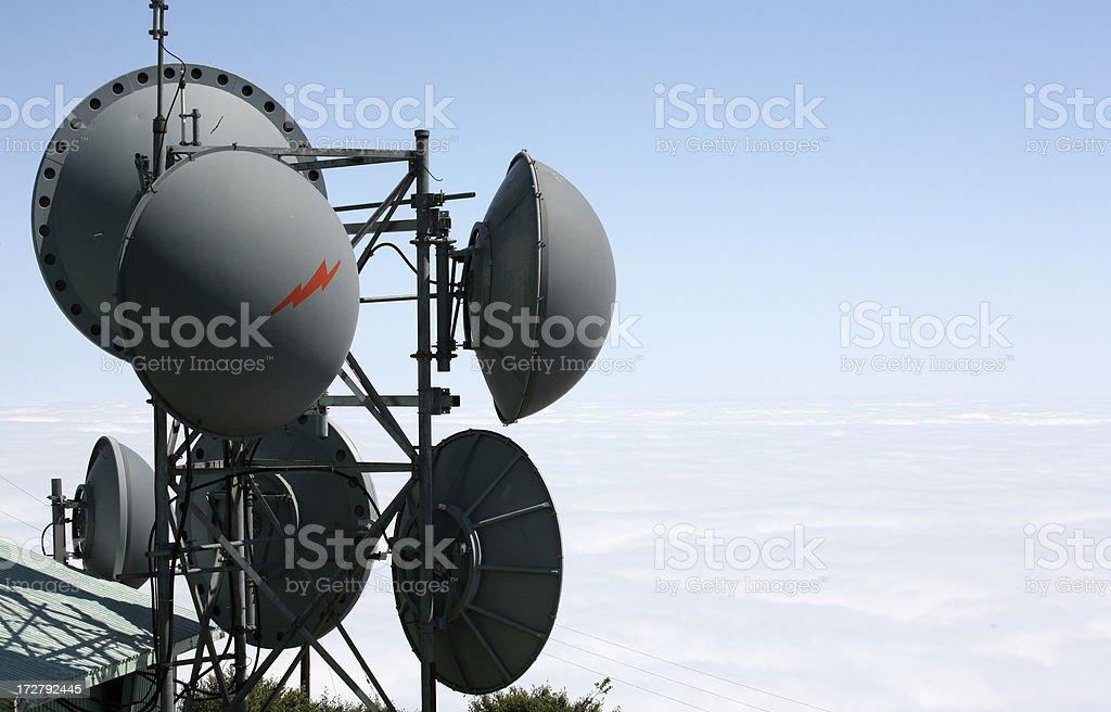 microwave tower stock photo