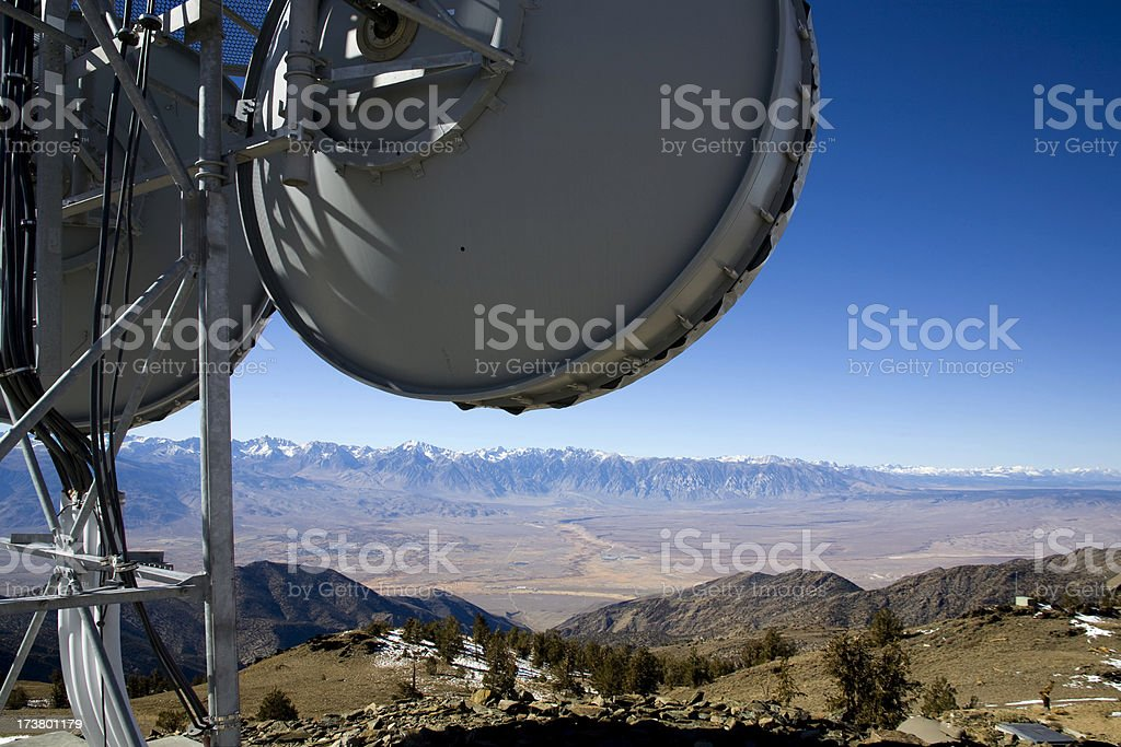 Microwave Tower stock photo